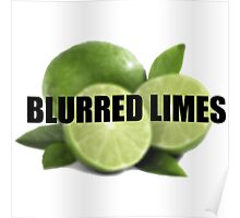 Blurred Limes Poster