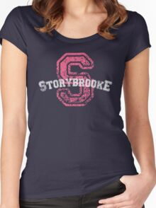 Storybrooke - Pink Women's Fitted Scoop T-Shirt