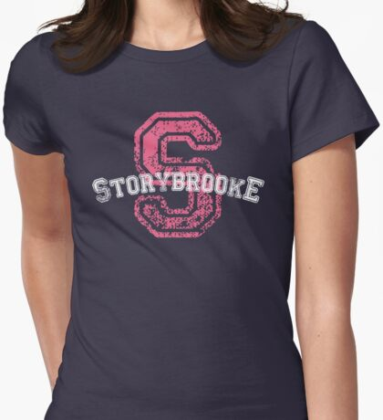 Storybrooke - Pink Womens Fitted T-Shirt