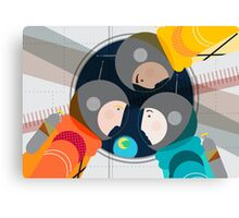 Astronauts in Space Canvas Print