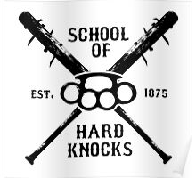 Irish Fight Club - School of Hard Knocks - Black Poster