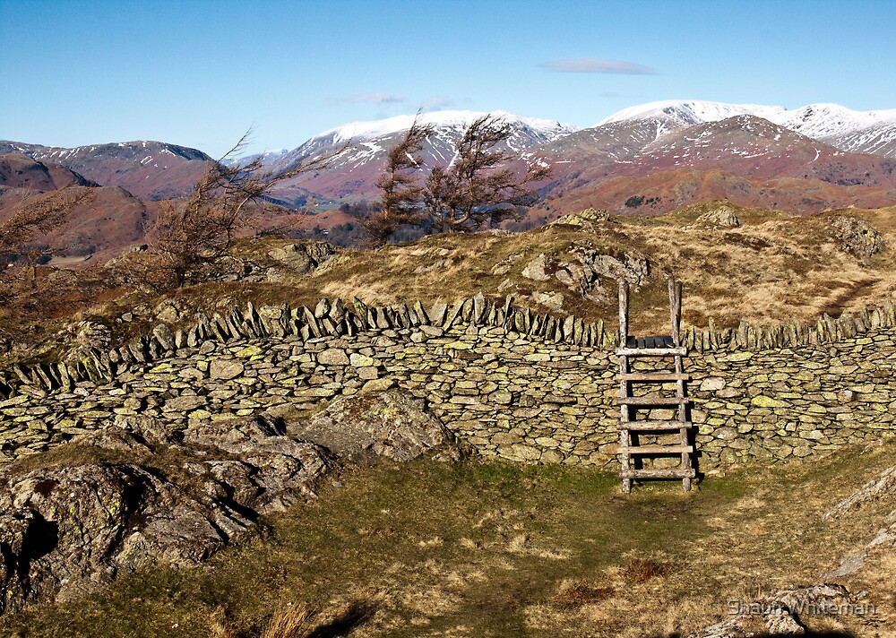 Over the stile and then on to Helvellyn by Shaun Whiteman