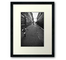 Run! Framed Print