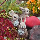 bunnies collecting colors for Easter by DAdeSimone