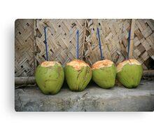 Coconut drinks Canvas Print