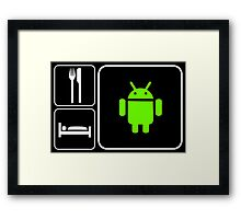 Food Sleep Android Framed Print