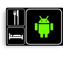 Food Sleep Android Canvas Print
