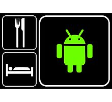 Food Sleep Android Photographic Print