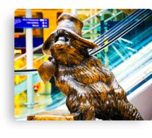 Paddington Bear Portrait: Paddington Station London. UK. Canvas Print