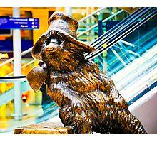 Paddington Bear Portrait: Paddington Station London. UK. Photographic Print