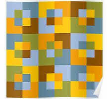 Sunflower Squares Poster