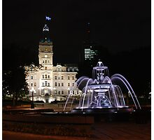 Quebec Parliament & Tourny Fountain Photographic Print