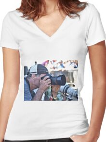 Paparazzi Women's Fitted V-Neck T-Shirt