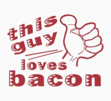 This guy loves bacon geek funny nerd by idulzul