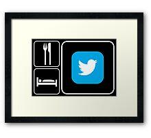 Food Sleep Twitter Framed Print