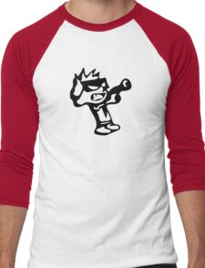 Spiff's Death Ray (Green) Men's Baseball ¾ T-Shirt