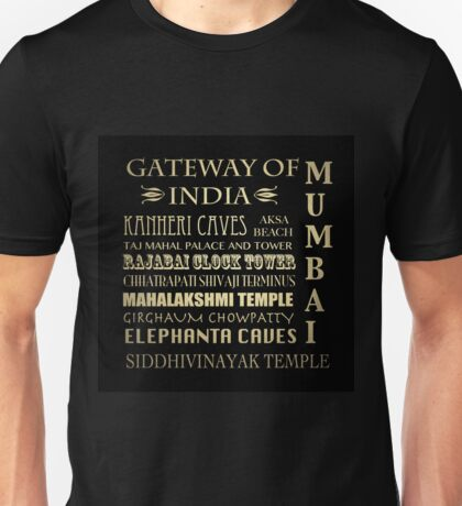 Mumbai Famous Landmarks Unisex T-Shirt