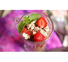 strawberry dessert Photographic Print