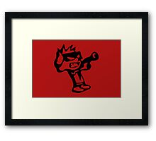Spiff's Death Ray (Red) Framed Print