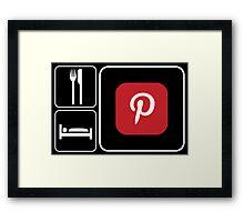 Food Sleep Pinterest Framed Print