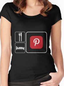 Food Sleep Pinterest Women's Fitted Scoop T-Shirt