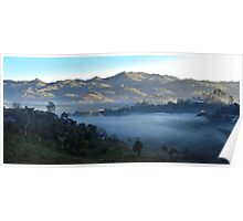Above the Clouds - On the Road to Semuc Champey, Guatemala Poster