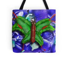 Chop Sticks and Fingers Butterfly Tote Bag