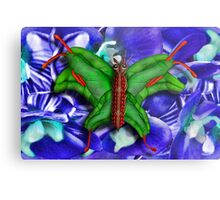 Chop Sticks and Fingers Butterfly Metal Print