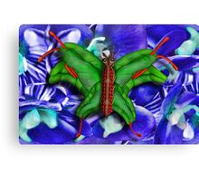 Chop Sticks and Fingers Butterfly Canvas Print