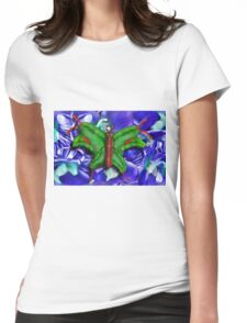 Chop Sticks and Fingers Butterfly Womens Fitted T-Shirt