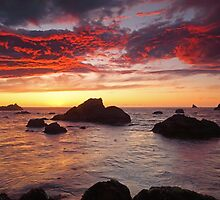Sunset at Harris Beach, Oregon by usafan