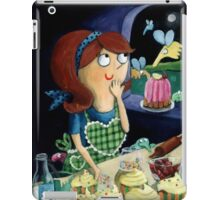 Little Girl's Kitchen and cute flying monsters iPad Case/Skin