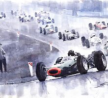 Graham Hill BRM P261 Belgian GP 1965 by Yuriy Shevchuk