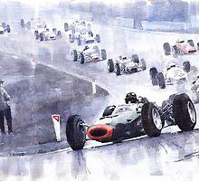 Graham Hill BRM P261 Belgian GP 1965 by Yuriy Shevchuk