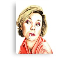 Pippa Haywood plays Joanna Clore from Green Wing Canvas Print
