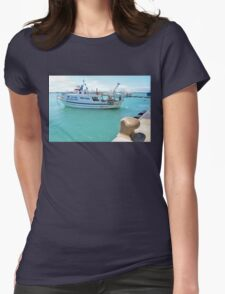 Fishing Boat In Licata Womens Fitted T-Shirt