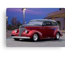 1939 Chevrolet 'Custom' Sedan Canvas Print