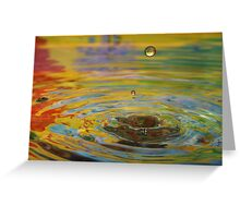 Droplet #35 Greeting Card