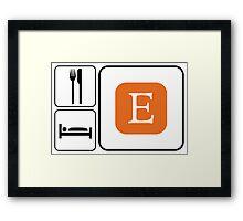 Food Sleep Etsy Framed Print