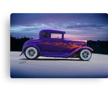 1930 Ford Model A Coupe 'Burning Daylight' Canvas Print