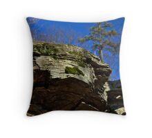 Rock Cropping & Pine Tree Throw Pillow