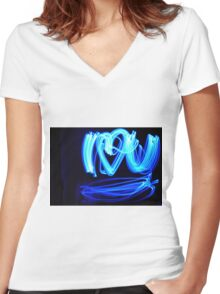I Heart You Women's Fitted V-Neck T-Shirt