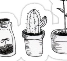 4 plants are better than 3 but then again 5 is better Sticker