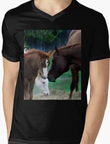 Mothers Love Mens V-Neck T-Shirt