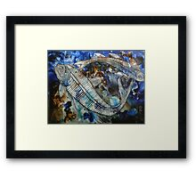 Where Once Was a Mighty River, Now Lies Stone Framed Print