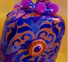 Decoupaged Bottle with Beads by Tamarra