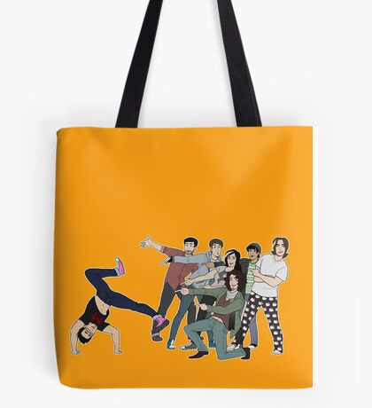 game grump squad points at markiplier Tote Bag