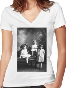 DOROTHY MAE DELBERTA AND LEORA ALBEE Women's Fitted V-Neck T-Shirt