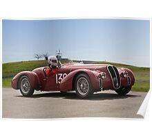 1939 Alfa Romeo 6C 2500 SS Vintage Racecar Poster