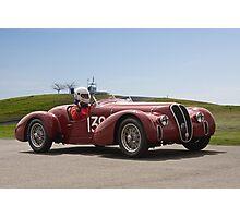 1939 Alfa Romeo 6C 2500 SS Vintage Racecar Photographic Print